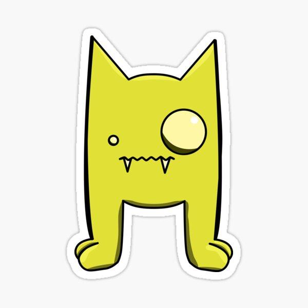 Yellow Demon Friend  Sticker