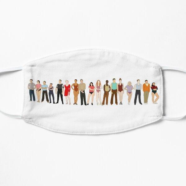 A Chorus Line- Line Vector Art Flat Mask
