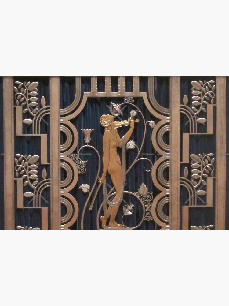 art nouveau, original,bronze and black,vintage,art deco, by love999