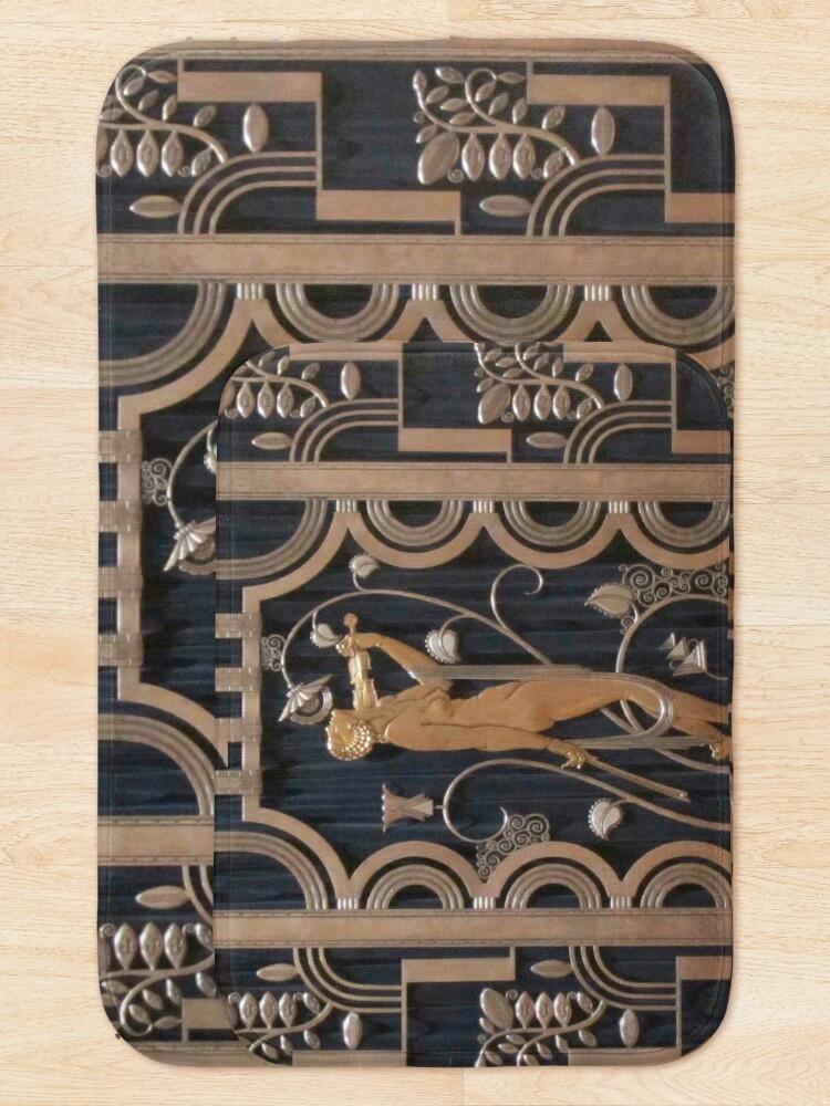 Alternate view of art nouveau, original,bronze and black,vintage,art deco, Bath Mat