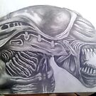 Alien Queen Head [Completed] by Tam Edey