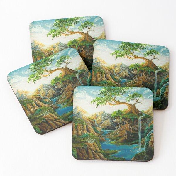 Floating Bonsai Tree  Coasters (Set of 4)
