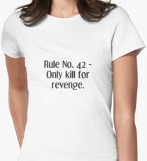 Life Rules. 42 - Reenge Women's Fitted T-Shirt