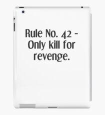 Life Rules. 42 - Reenge iPad Case/Skin