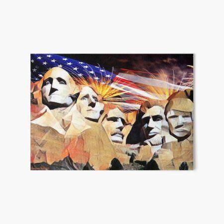 Mt Rushmore 4th of July Art Board Print