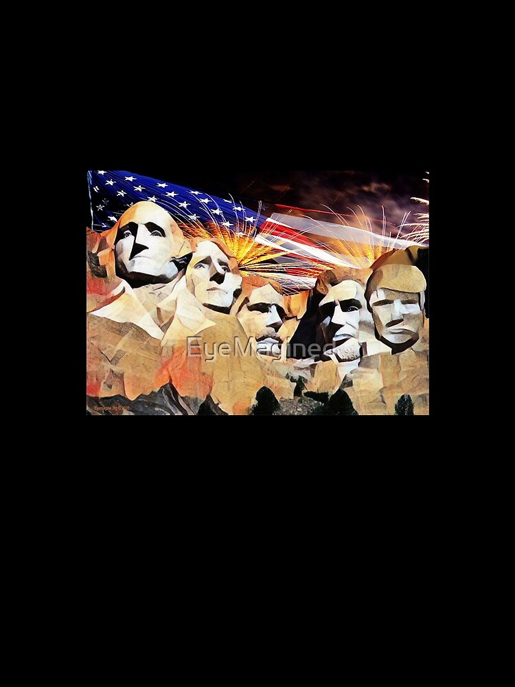 Mt Rushmore 4th of July by EyeMagined