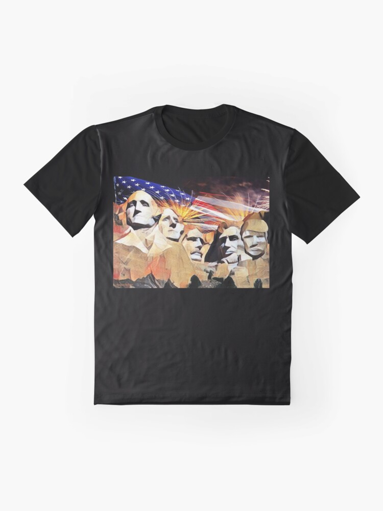 Alternate view of Mt Rushmore 4th of July Graphic T-Shirt