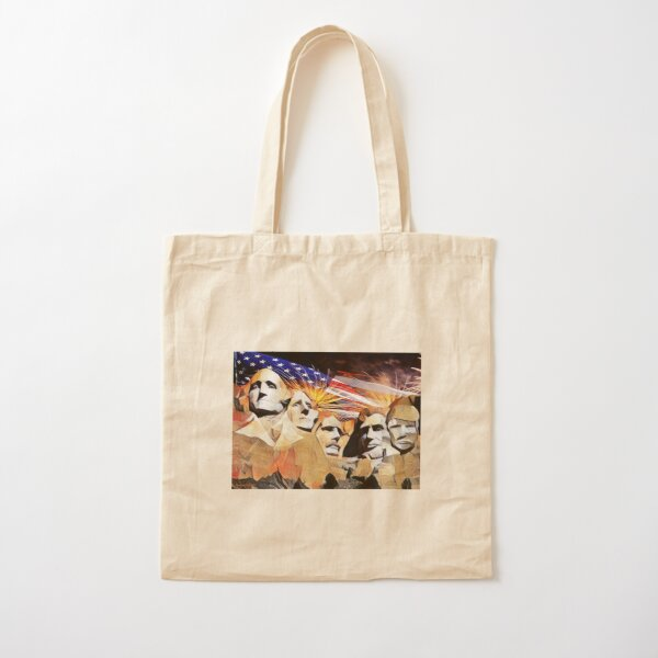 Mt Rushmore 4th of July Cotton Tote Bag