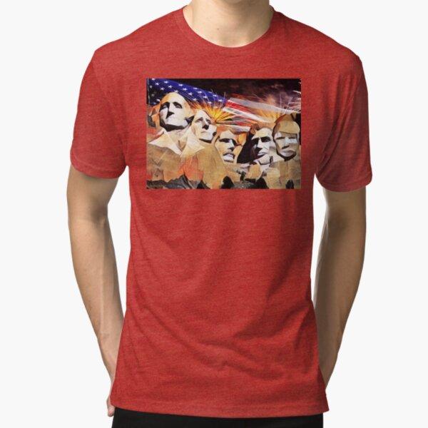 Mt Rushmore 4th of July Tri-blend T-Shirt