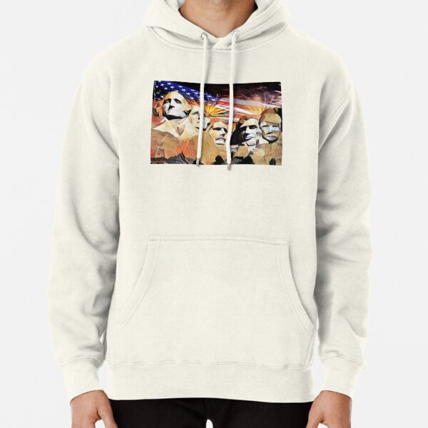 Mt Rushmore 4th of July Pullover Hoodie