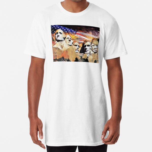 Mt Rushmore 4th of July Long T-Shirt