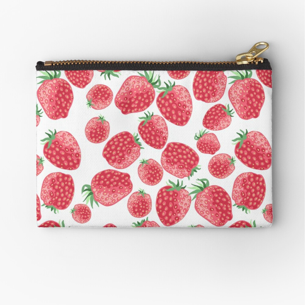 Strawberry pattern Zipper Pouch