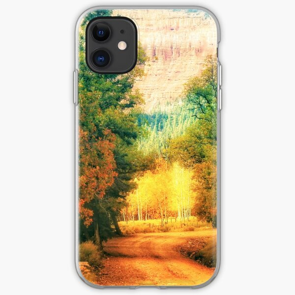 Autumn path iPhone Soft Case