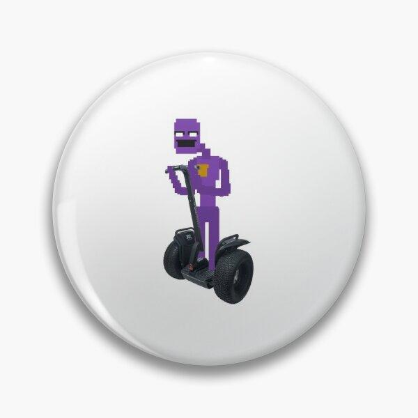 Purple Guy on a Segway Pin