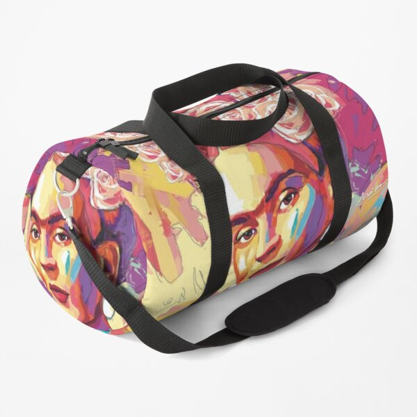 frida kahlo portrait pop art Duffle Bag