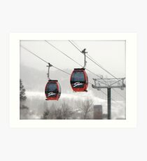 Skiing at its best ! Art Print