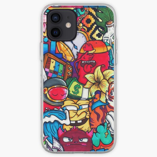 chameleon Vexx Doodle no rules  iPhone Soft Case
