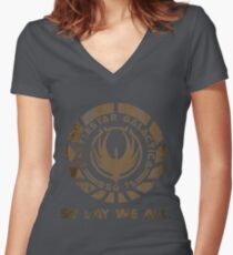 So Say We All Women's Fitted V-Neck T-Shirt