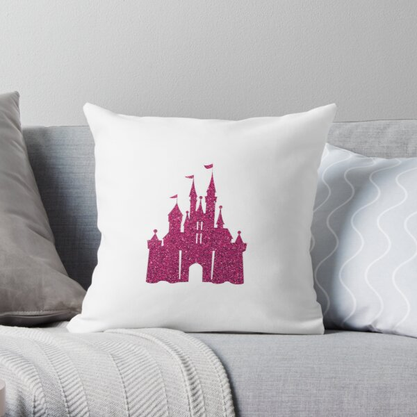 Pink Glitter Wishes Throw Pillow
