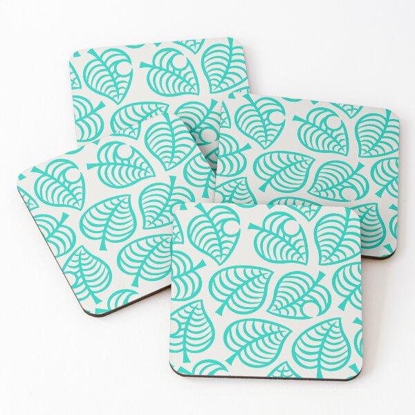 acnh leaf pattern Coasters (Set of 4)