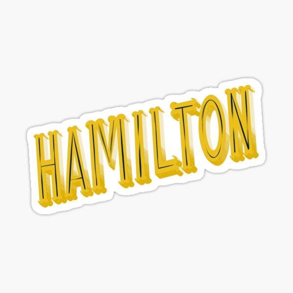 Hamilton Title Sticker