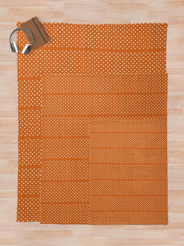 Alternate view of Orange Dots Throw Blanket