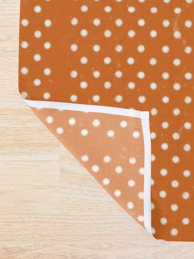 Alternate view of Orange Dots Shower Curtain
