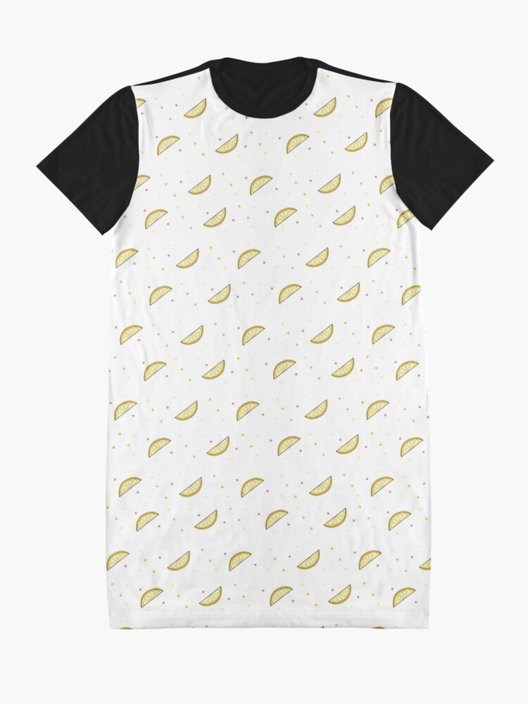 Alternate view of Lemon Dots Graphic T-Shirt Dress