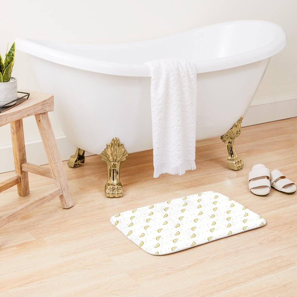 Lemon Dots Bath Mat