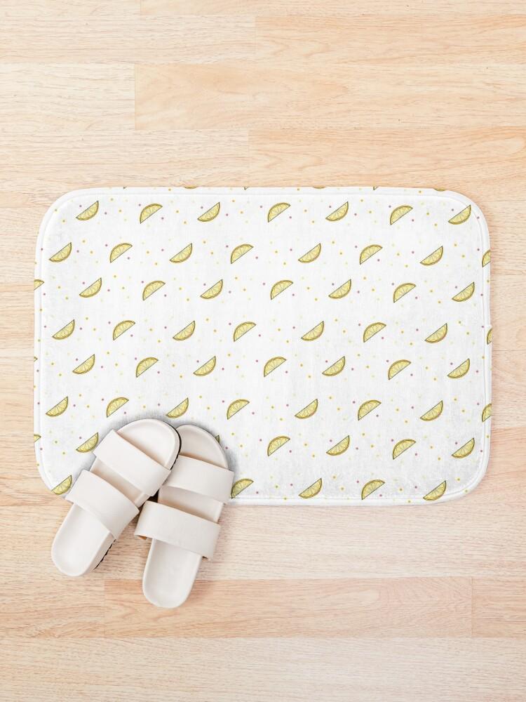 Alternate view of Lemon Dots Bath Mat
