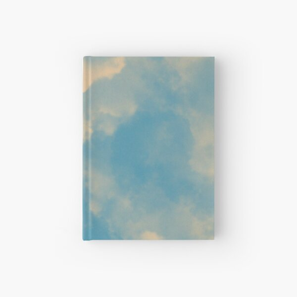 Cotton Candy Clouds Pattern IV (yellow&blue)  Hardcover Journal