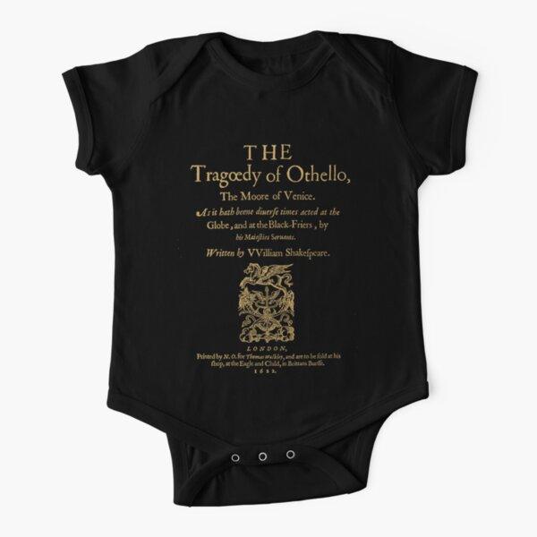 Shakespeare, Othello. Versión de ropa oscura Body de manga corta para bebé