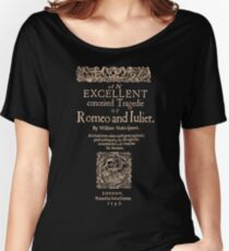 Shakespeare, Romeo and Juliet. Dark Clothes Version Women's Relaxed Fit T-Shirt