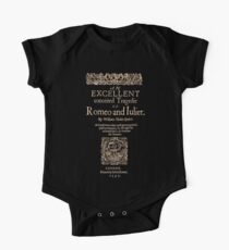 Shakespeare, Romeo and Juliet. Dark Clothes Version One Piece - Short Sleeve