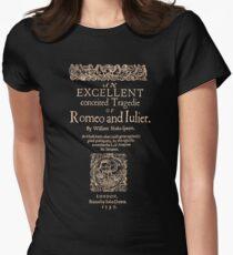 Shakespeare, Romeo y Julieta. Versión oscura de la ropa Camiseta entallada para mujer