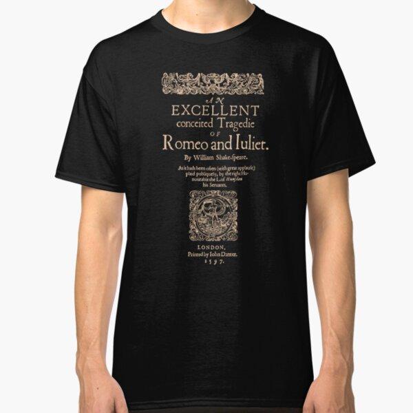 Shakespeare, Romeo y Julieta. Versión oscura de la ropa Camiseta clásica