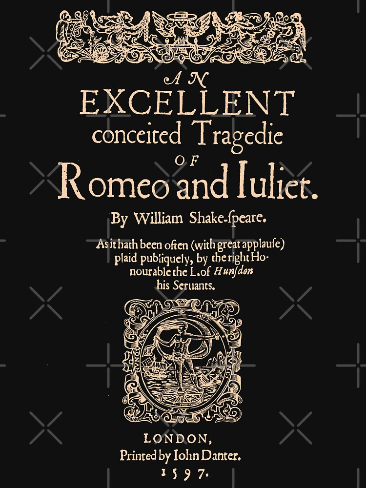 Shakespeare, Romeo y Julieta. Versión oscura de la ropa de bibliotee