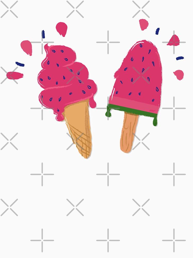Watermelon Ice Cream Stickers by darrianrebecca