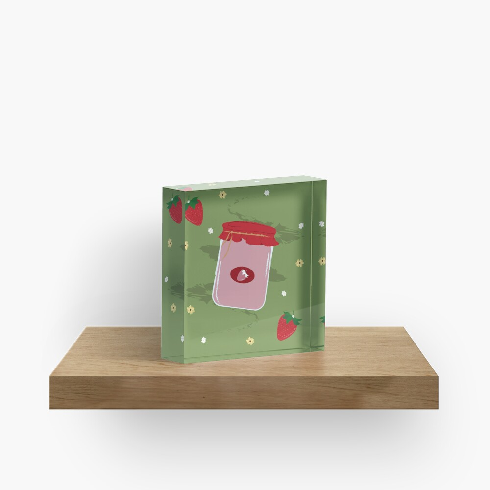 Strawberry Sticker Pack Acrylic Block