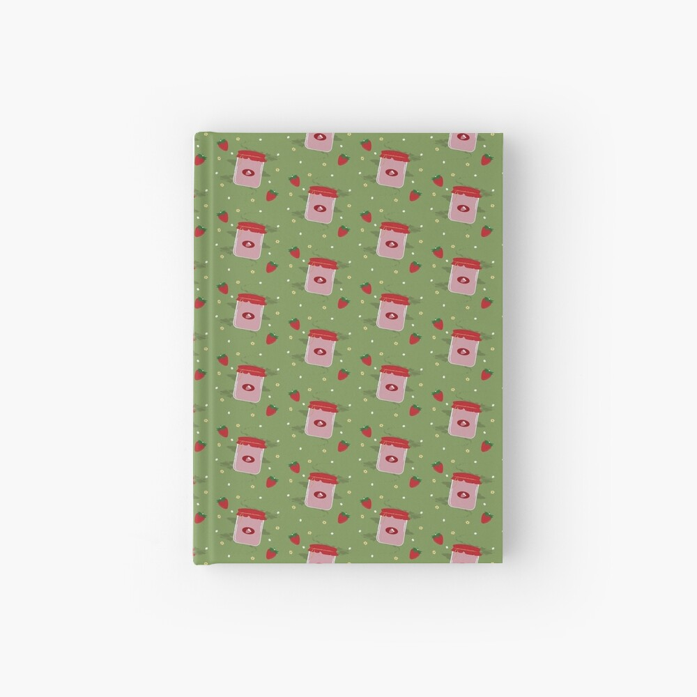 Strawberry Sticker Pack Hardcover Journal