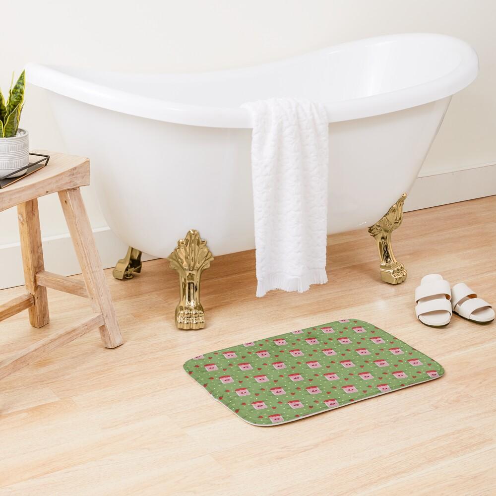 Strawberry Sticker Pack Bath Mat