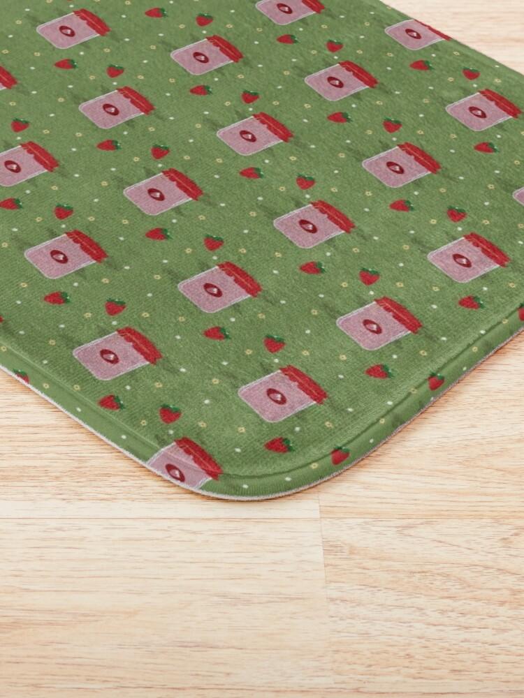 Alternate view of Strawberry Sticker Pack Bath Mat