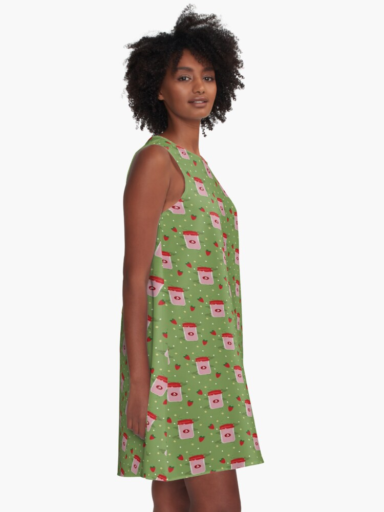 Alternate view of Strawberry Sticker Pack A-Line Dress