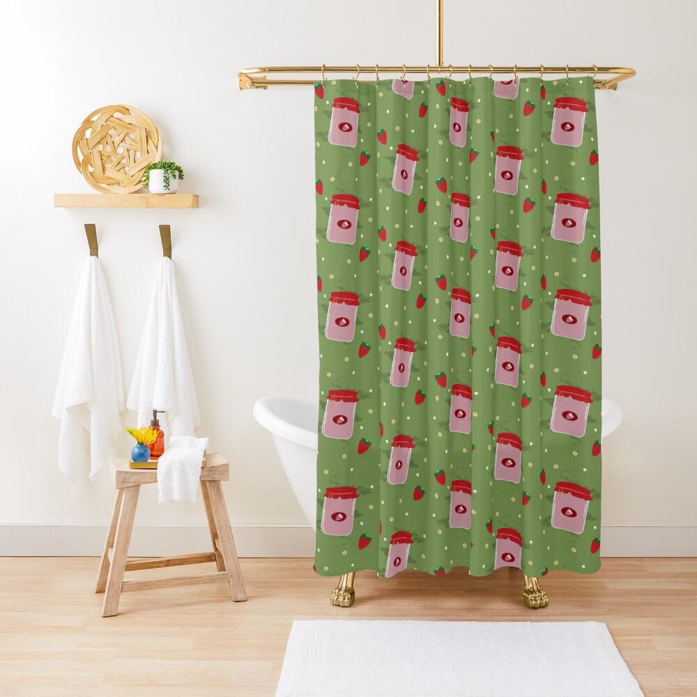 Strawberry Sticker Pack Shower Curtain