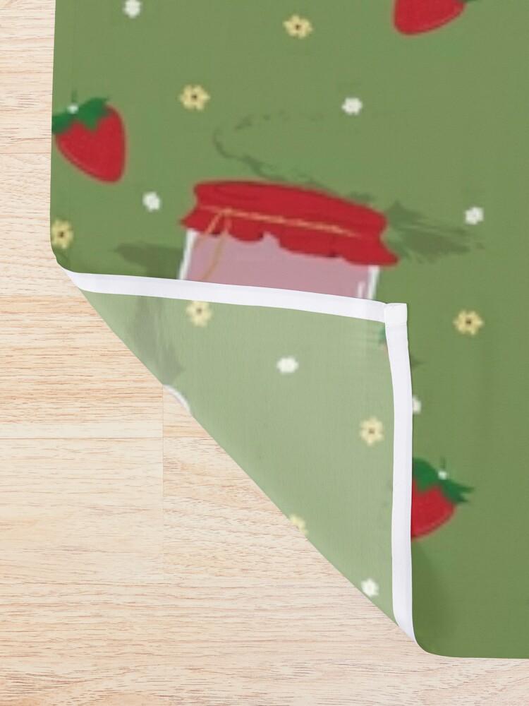 Alternate view of Strawberry Sticker Pack Shower Curtain