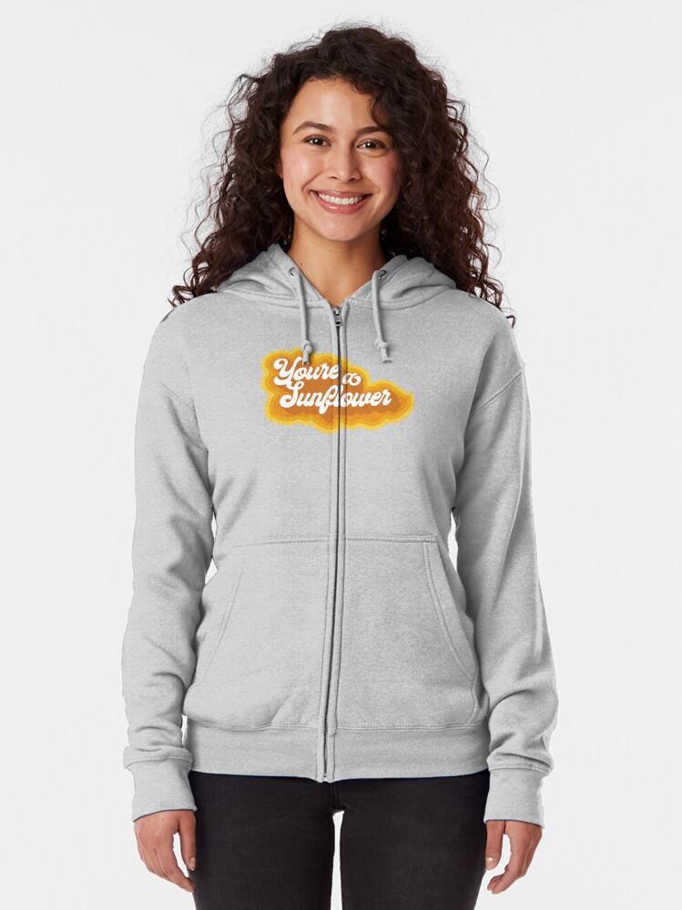 Alternate view of Sunflower Zipped Hoodie