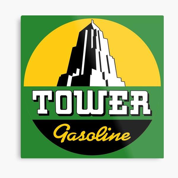 Tower Gasoline Metal Print