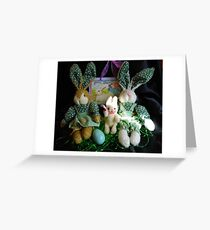 The Bunny Family At Easter Greeting Card