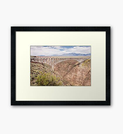 Bridge Over The Rio Grande River Gorge Framed Print