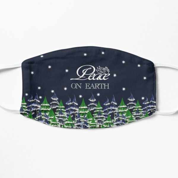 Peace On Earth Christmas Trees Mask